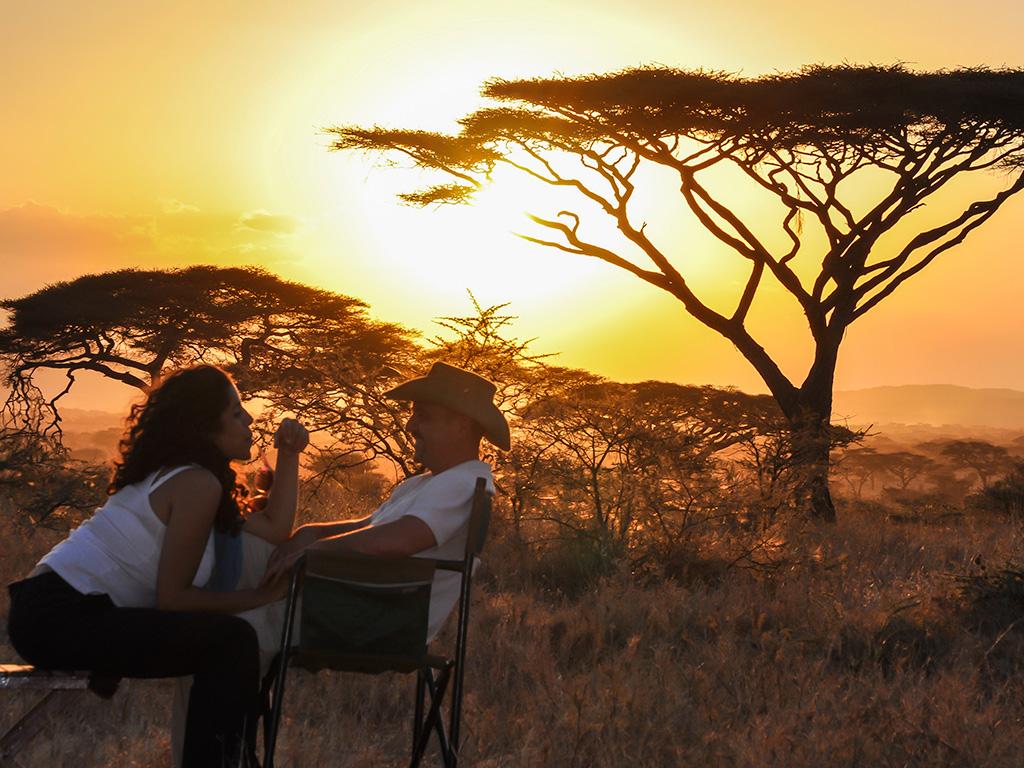 Cocktail et safari dans le Grumeti