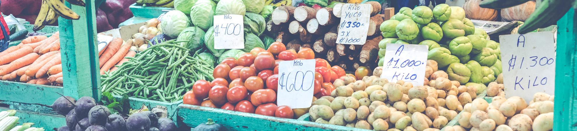 Fruits et légumes - marché de San Jose au Costa Rica