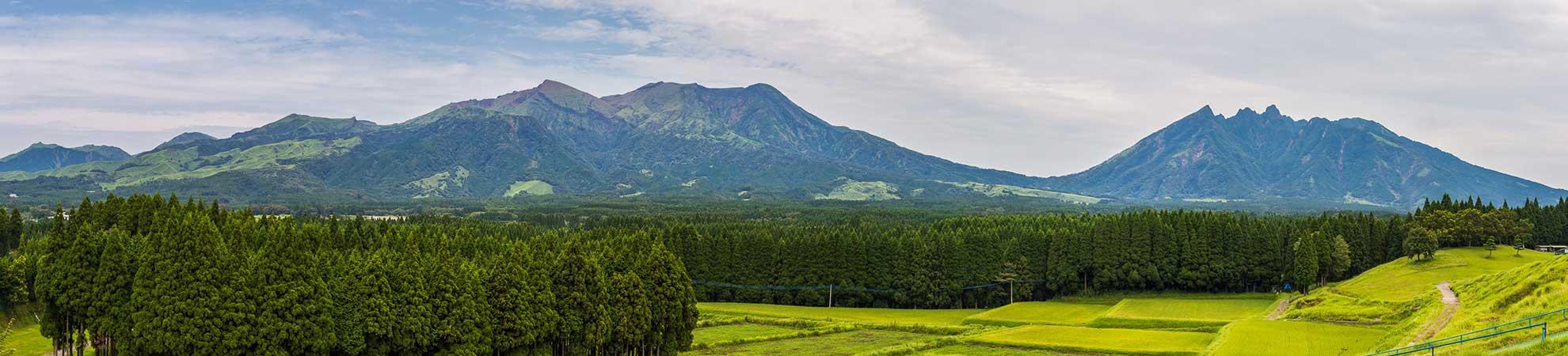 Excursion dans la caldeira du Mont Aso