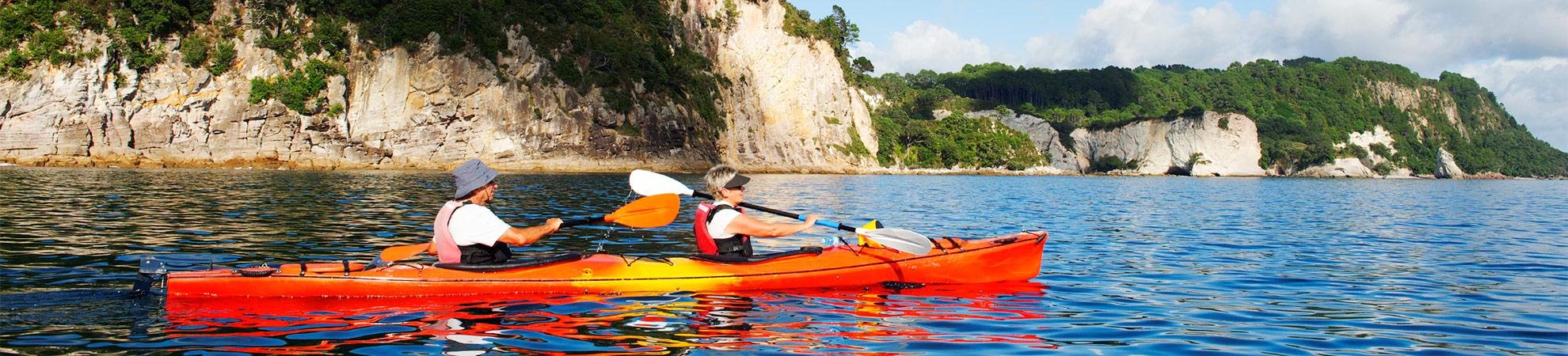 Kayak de mer sur la péninsule de Coromandel