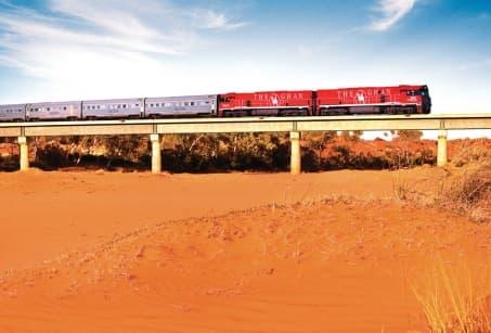 Grands espaces australiens en train