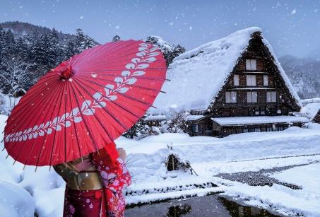 Le Japon sous la neige