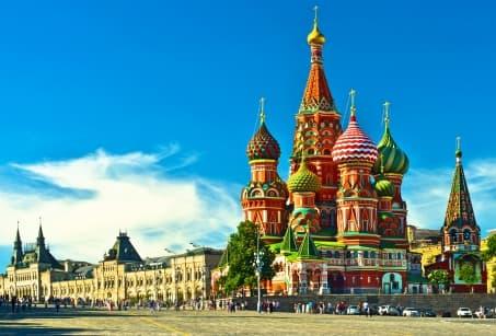 Les capitales russes :  Saint-Pétersbourg et Moscou