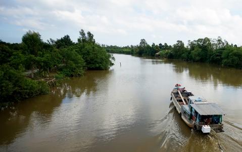 activity Sampan sur la rivière noire