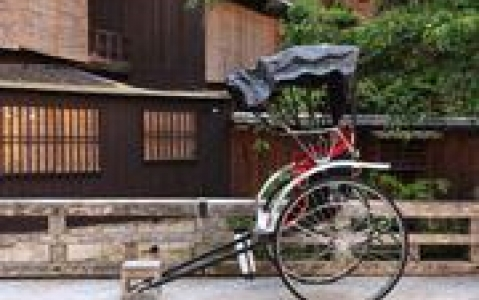 activity Rickshaw dans les rues de Matsuyama