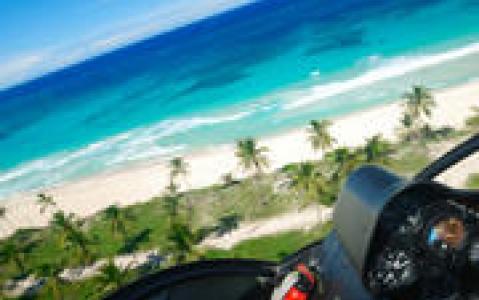 activity Survol du lagon en hélicoptère
