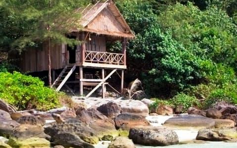 hotel Bungalow sur la plage - Ile de Koh Kong
