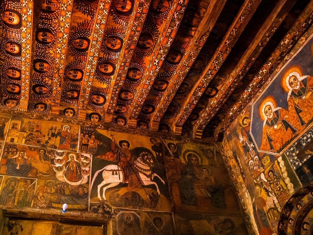 Monastère d'Ashetem Maryam et paysages Amhara
