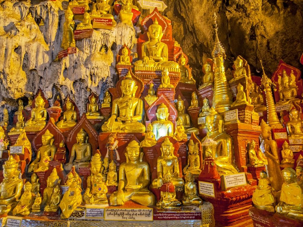 Les grottes sacrées de Pindaya
