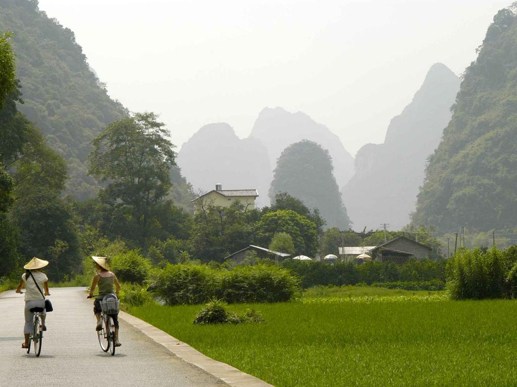 Vélo dans la campagne de Yangshuo