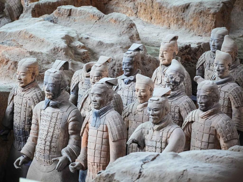 Xian et son armée de soldats en terre cuite