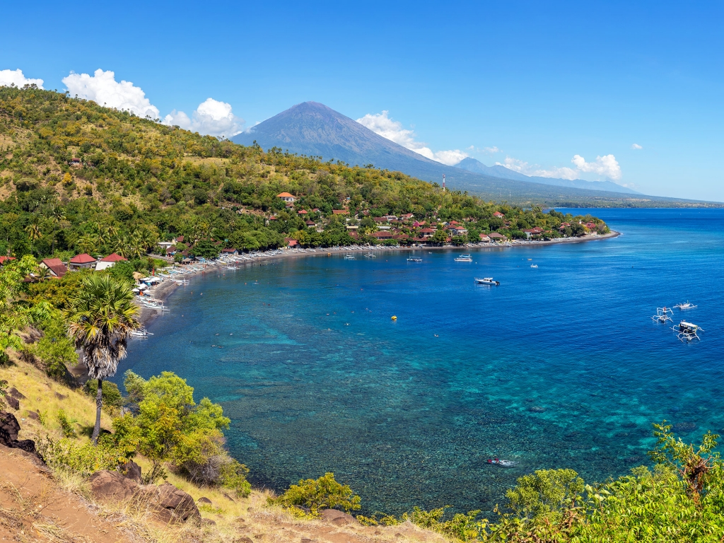 Paysages accidentés du Nord de Bali…