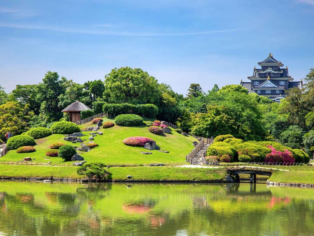 Le château et le jardin d'Okayama