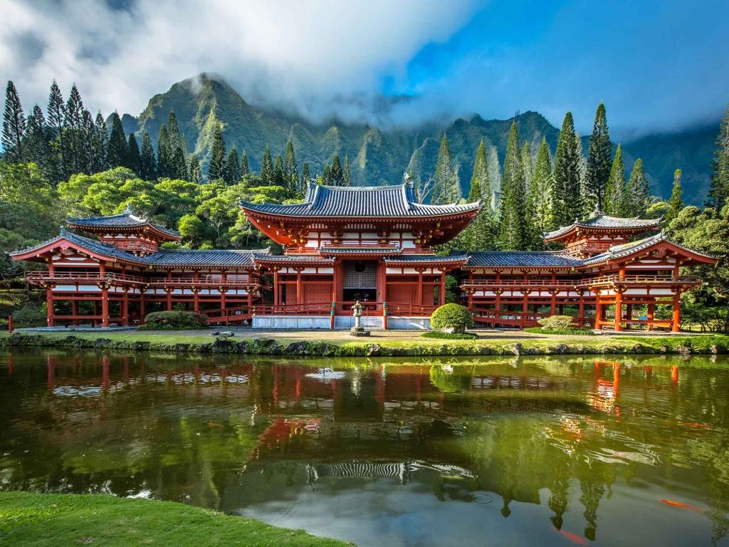 Le temple Byodo-In à Uji