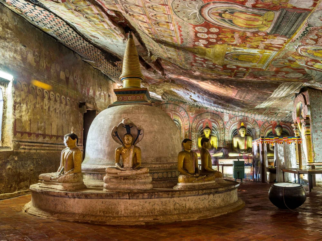 Dambulla et ses caves troglodytes
