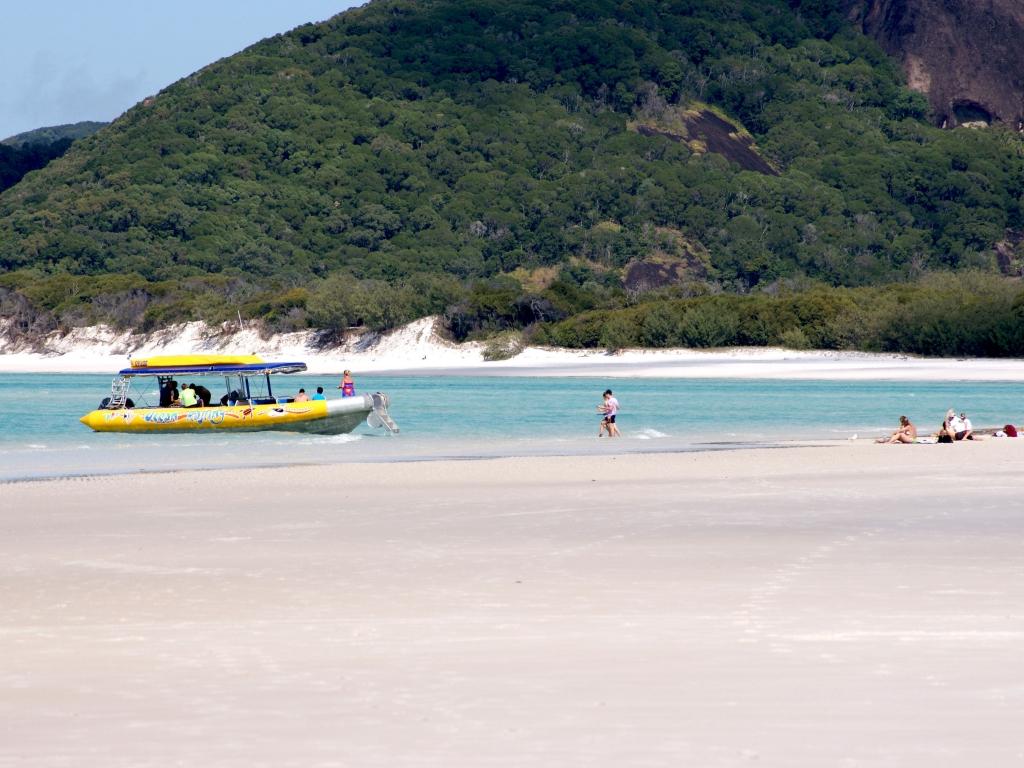 Sur le sable de Whitehaven Beach