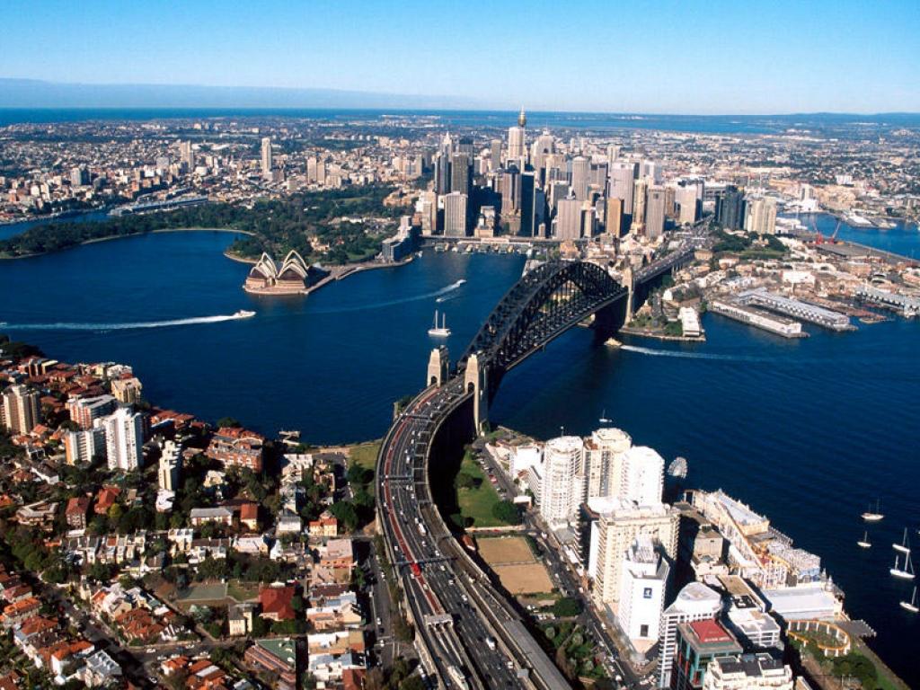 La ville vue de la baie