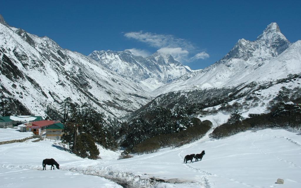 Vue incroyable du sommet du Kala Pathar