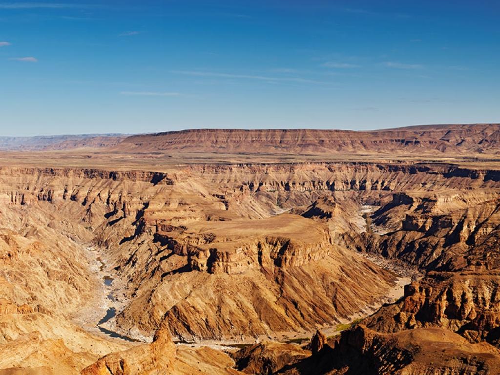 Bassin et sources chaudes au Fish River Canyon