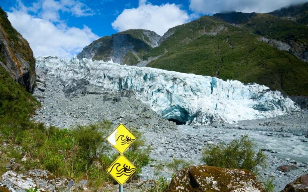 Sur le glacier