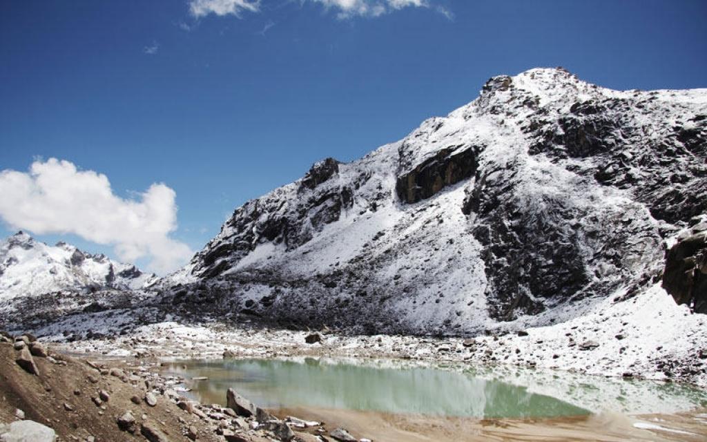 Sommets enneigés de la Cordillère des Andes