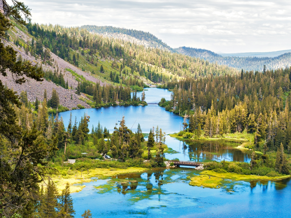 Route vers Mammoth Lakes