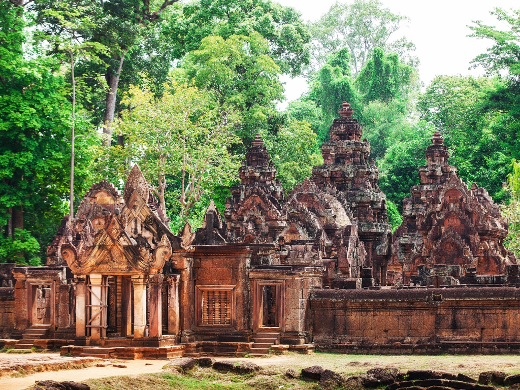Banteay Srei et la campagne cambodgienne