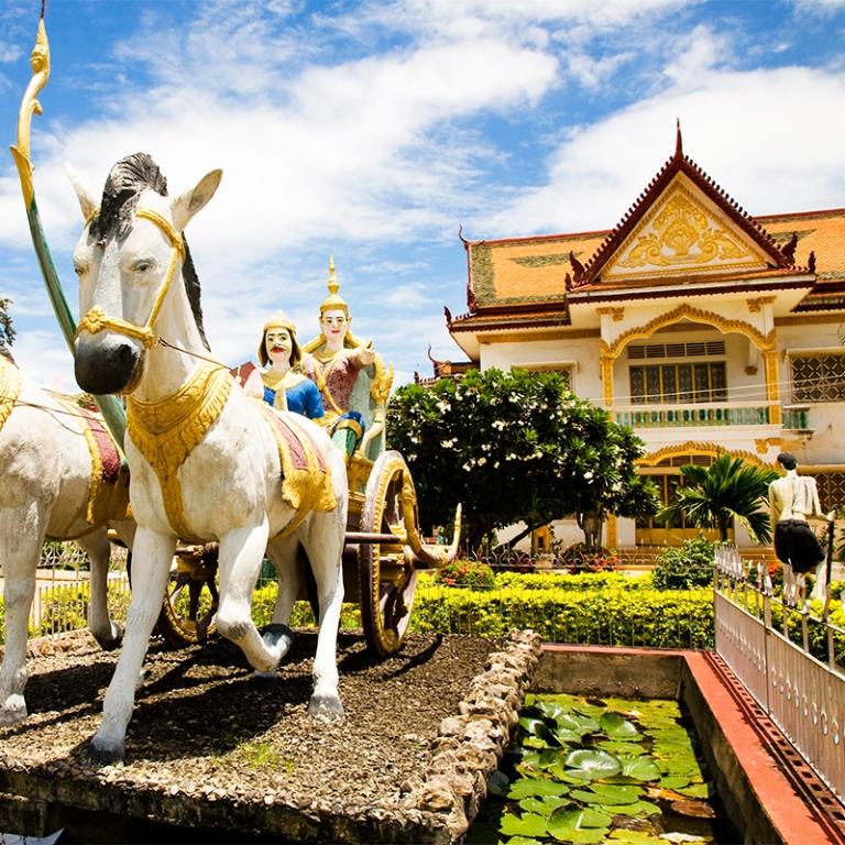 Battambang et son train en bambou