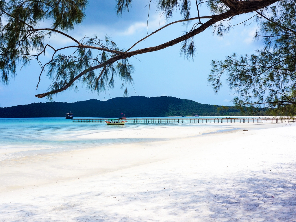 Koh Rong, direction la plage