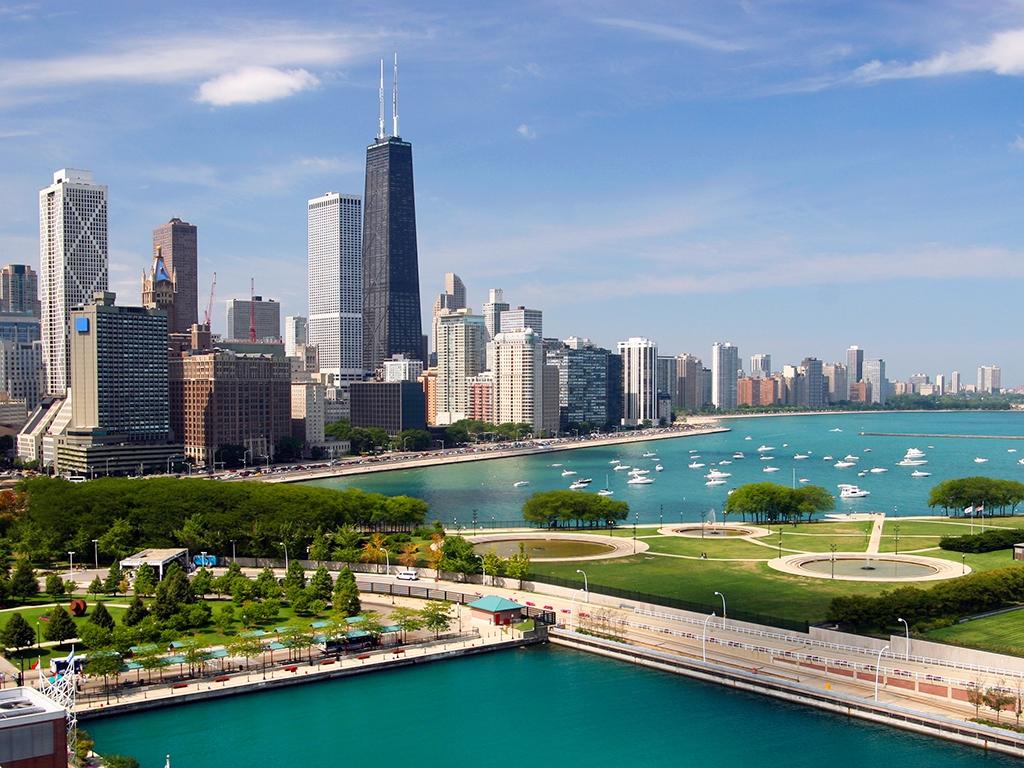 Arrivée à Chicago, la « windy city »