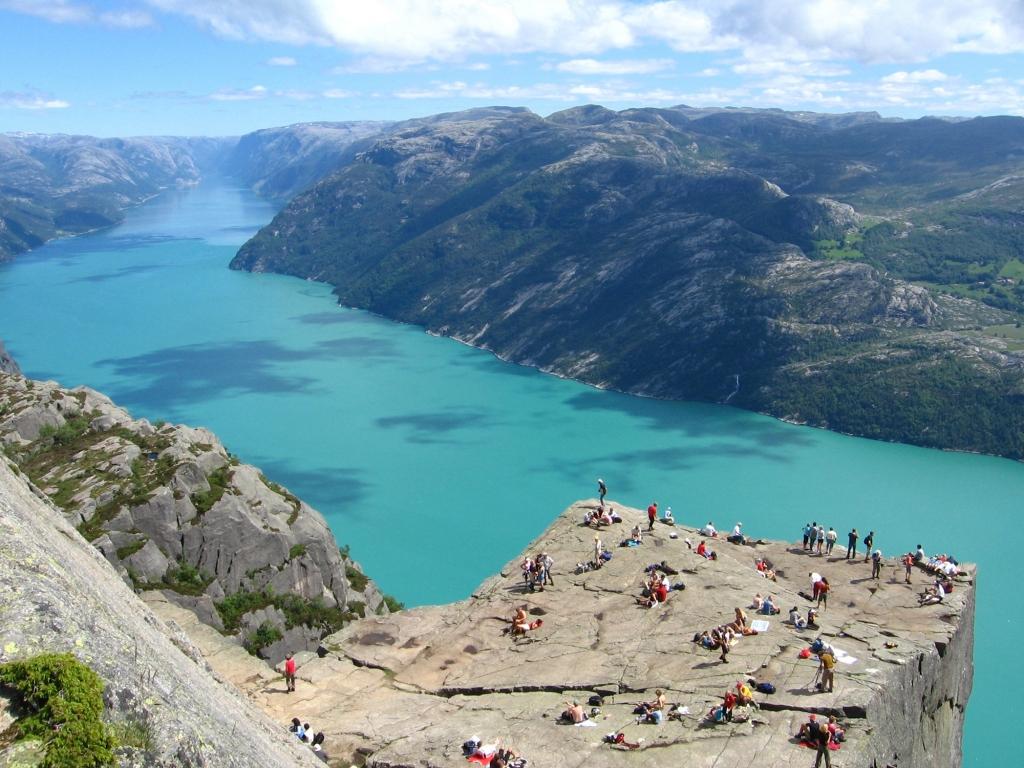 A 600 mètres au-dessus du Lysefjord