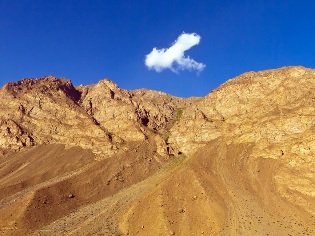 Route vers le Kirghizstan