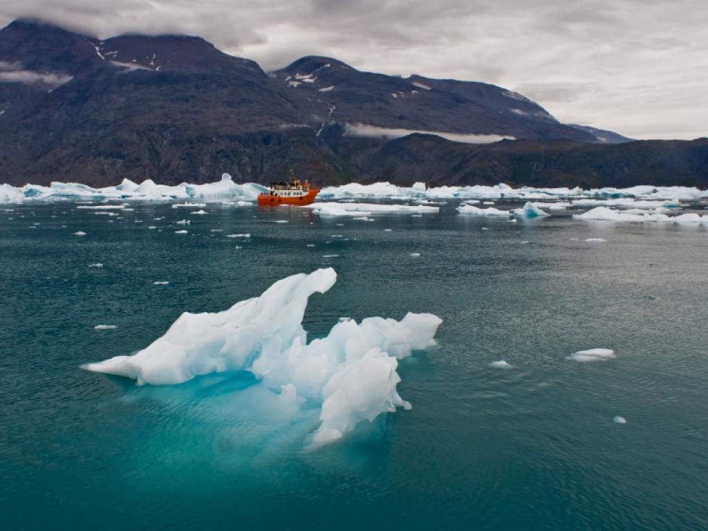 A pied jusqu'au glacier de Narsarsuaq