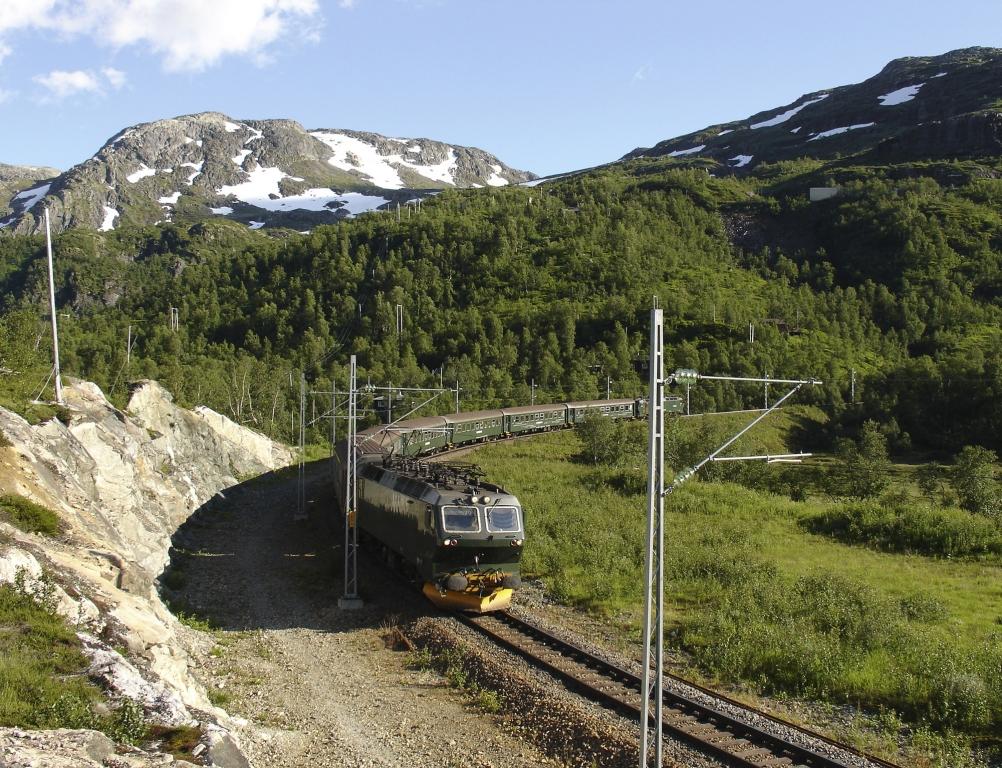 En train sur la ligne mythique de Norvège