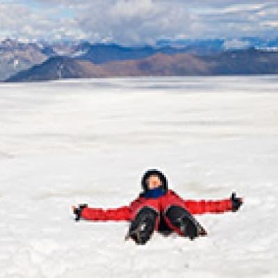 Motoneige sur le glacier Vatnajökull
