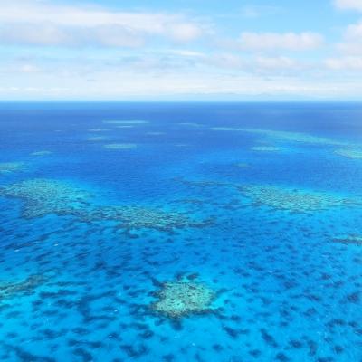 La Grande Barrière de Corail vue du ciel
