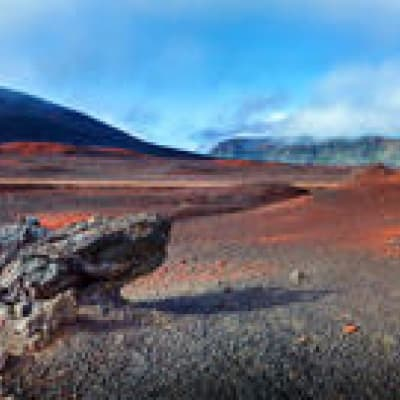 Survol du volcan en hélicoptère