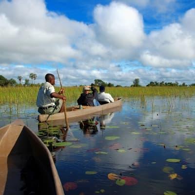 Canoé aux lacs Momella- Parc d'Arusha