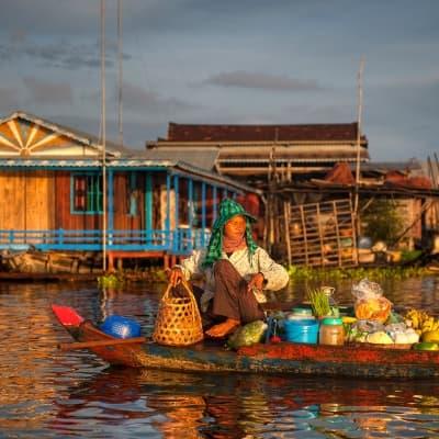 Un village flottant authentique