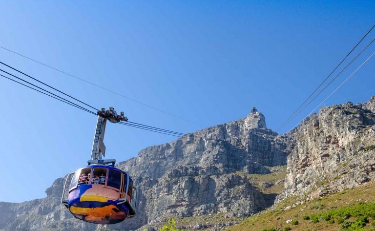 Ascension de Table Mountain en téléphérique