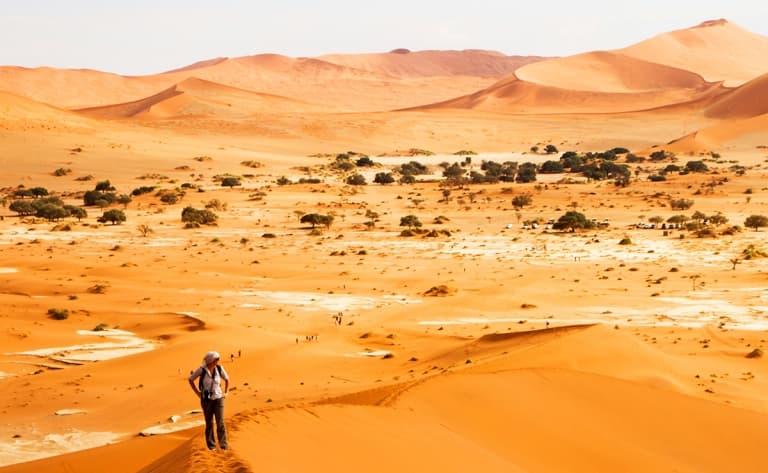 Ascension d'une dune de Sossusvlei