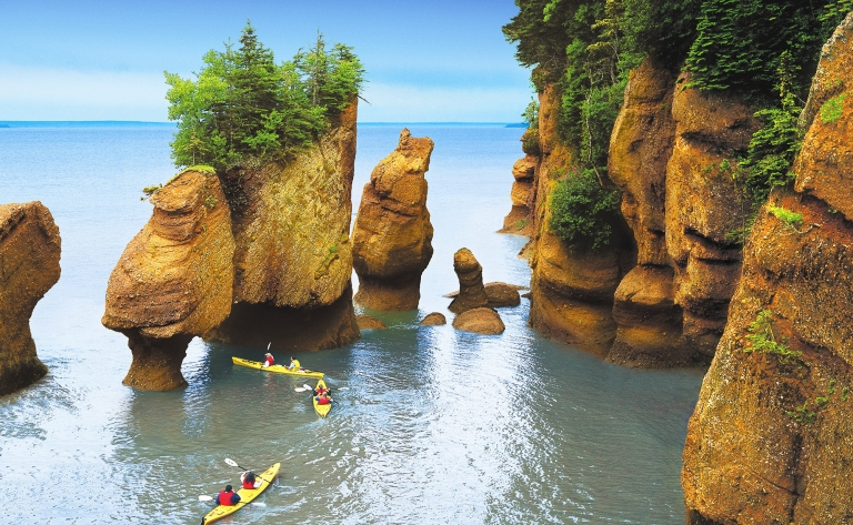 Parc National de Fundy et Kayak près des Rochers Hopewell