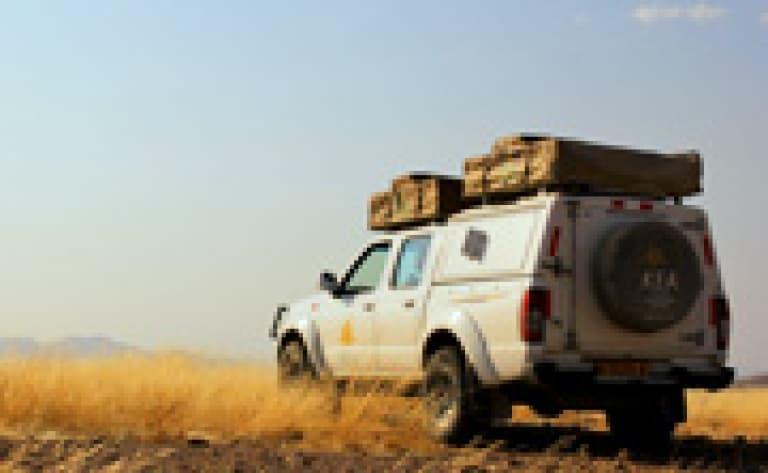 4X4 dans le désert de Namib