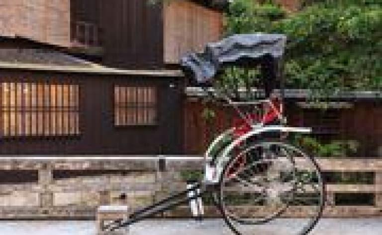 Rickshaw dans les rues de Matsuyama