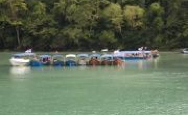 Crossing Temenggor Lake by boat