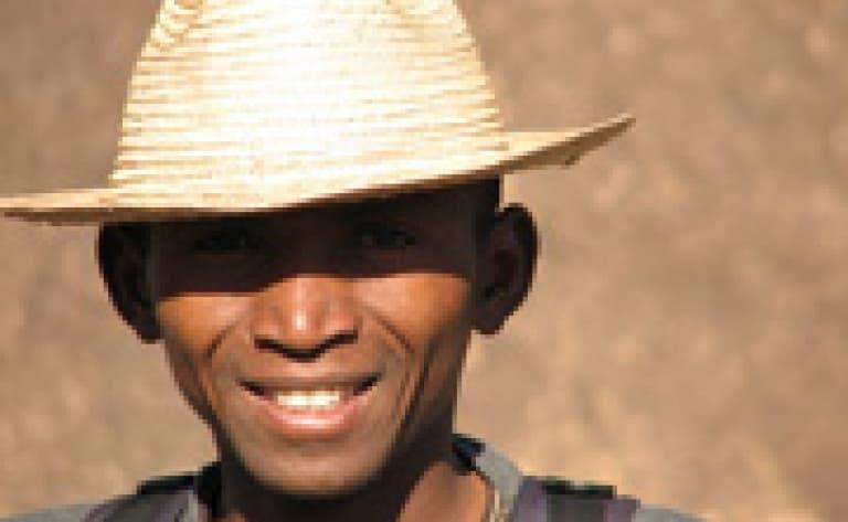 Une marche avec un Bushmen