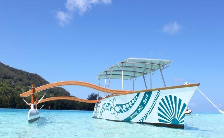 """Tour Lagon """"Miti"""" en pirogue à balancier - Journée Complète (Lunch les pieds dans l'eau inclus)"""