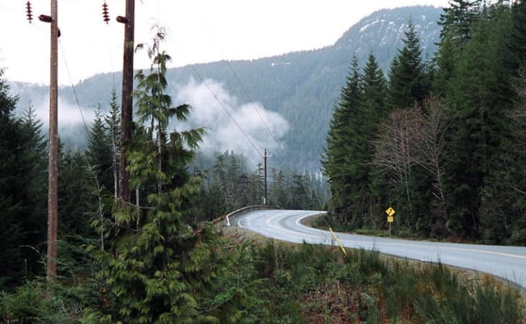 Route vers Nanaimo (350km)