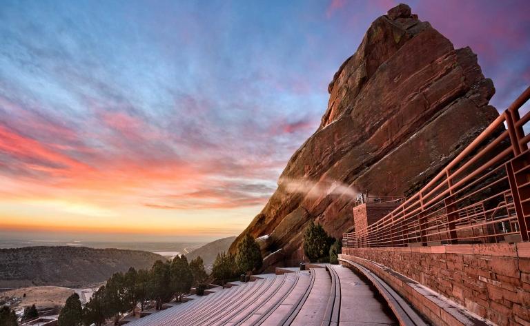 Concert sous les étoiles au Red Rocks Amphitheatre