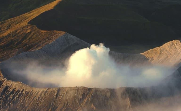 Ascension du volcan actif du Mont Bromo